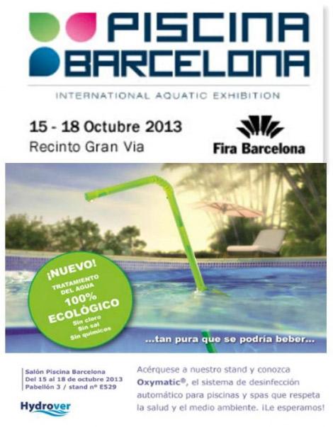 Hydrover en Salón Piscina Barcelona, del 15 al 18 de octubre.