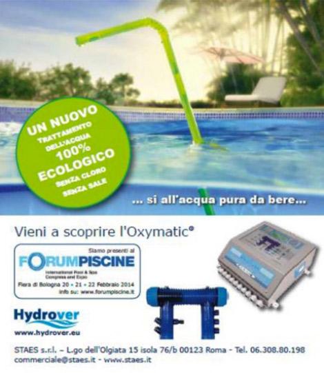 OXYMATIC EN LA FERIA DE BOLONIA FORUM PISCINE 20, 21, 22 de febrero