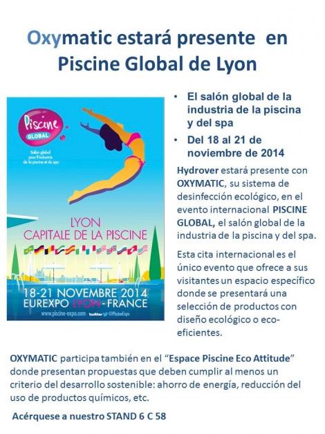 OXYMATIC estara presente en el salón de piscinas global de Lyon