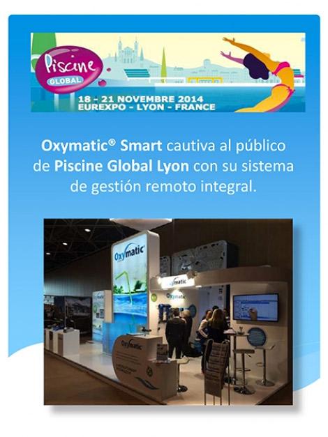 Oxymatic® Smart cautiva al público de Piscine Global Lyon con su sistema de gestión remoto integral.
